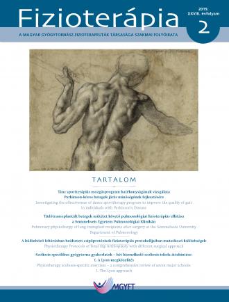 Fizioterápia 2019/2 borító